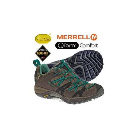 【美國 MERRELL】女新款 SIREN SPORT GORE-TEX 多功能郊山健走鞋_藍綠色 ML21436
