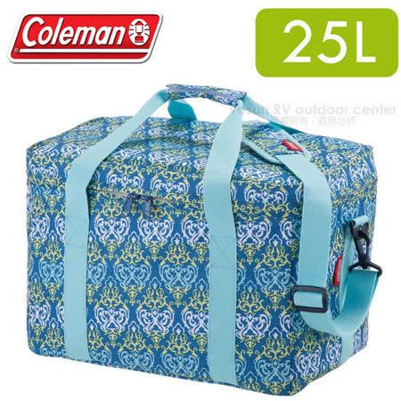 【美國Coleman】藍葉圖騰保冷袋25L _CM-22219