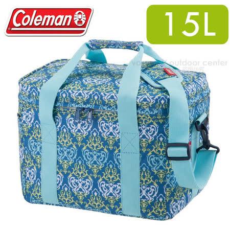 【美國Coleman】藍葉圖騰保冷袋15L_CM-22226