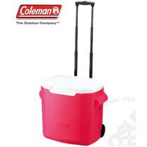 【美國 Coleman】 26.5L拖輪置物型冰桶_CM-0028 桃紅