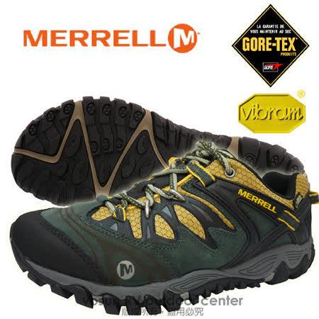 【美國 MERRELL】男新款 Allout Blaze Gore-Tex 多功能登山健走鞋_灰/黃 21263