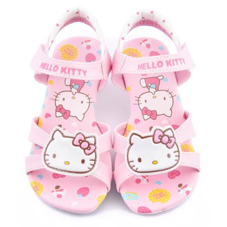 童鞋城堡-Hello kitty 中大童 甜美低跟涼鞋815752-粉