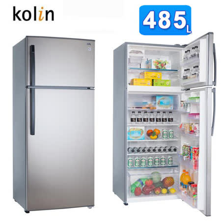 Kolin歌林485L變頻節能雙門電冰箱KR-248V01-ST(含拆箱定位+舊機回收)買再送風扇
