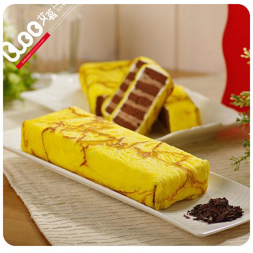 艾葛蛋捲狂人 巧克力脆片金磚蛋糕(二片裝)