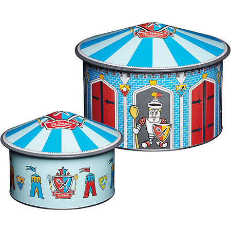《KitchenCraft》馬戲團收納盒2入(藍)