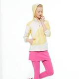 【hilltop山頂鳥】女款抗UV超撥水拼接配色外套S02F97-米白/象牙黃