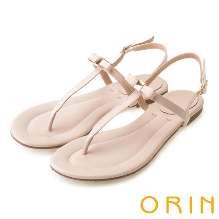 ORIN 夏日時尚風 細緻典雅T字形夾腳涼鞋-粉紅