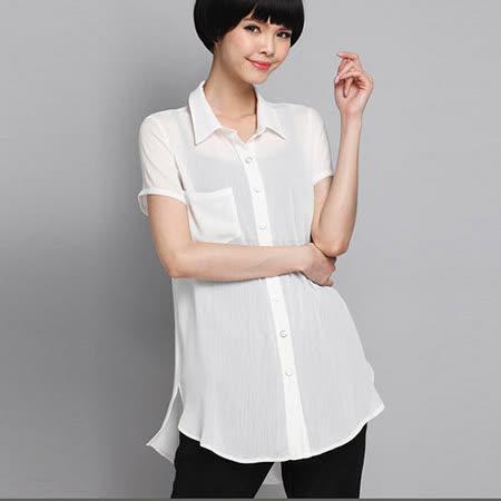 【公主衣櫃 中大尺碼】1357OL氣質雪紡襯衫(XL-5XL)