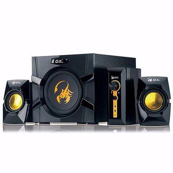 GX Gaming SW-G2.1 3000 金燦飛蠍 4件式重低音喇叭組 ..
