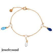 Jewelrywood 純銀雅典娜珍珠水滴手鍊