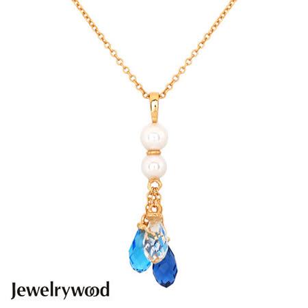 Jewelrywood 純銀雅典娜珍珠水滴石項鍊