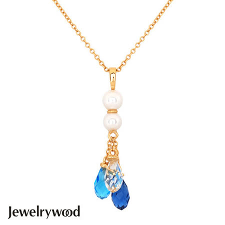 Jewelrywood 純銀雅典娜珍珠水滴石項鍊