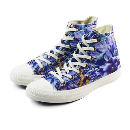 (W系列)CONVERSE Chuck Taylor All Star 帆布鞋 藍紫/印花-547303C