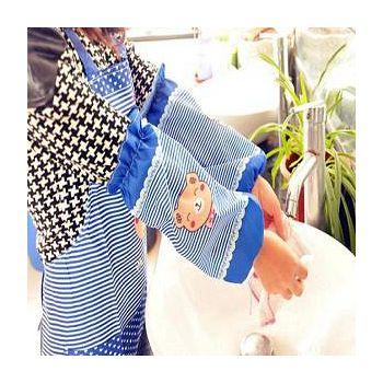樂膳 可愛小熊長款袖套 +防水防污圍裙套組