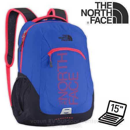 【美國 The North Face】新款 HAYSTACK 輕量15吋電腦背包31L.日用背包.運動休閒背包.後背包/830g輕巧耐用.透氣背板/CE90 耀眼藍/火箭紅