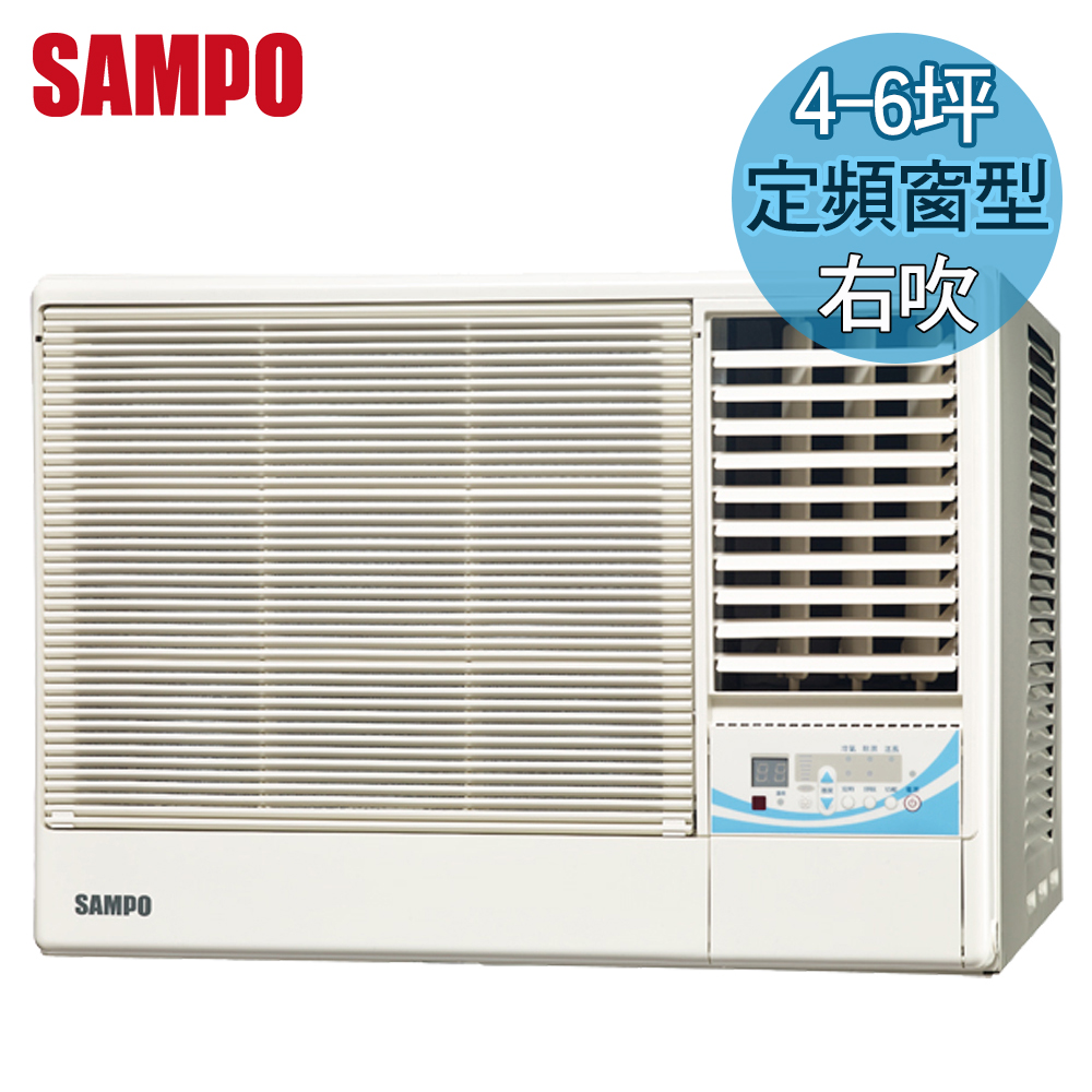 ^~ ^~SAMPO聲寶 4~6坪定頻右吹窗型冷氣^(AW~PA28R^)送