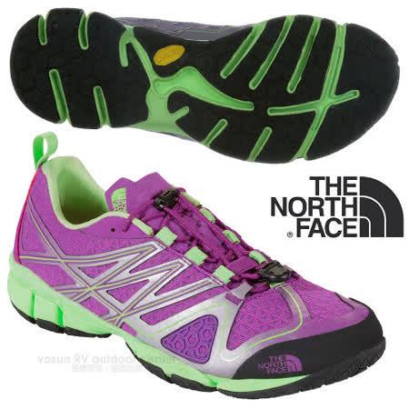 【美國 The North Face】女新款 ULTRA CURRENT 透氣耐磨戶外多功能鞋_CCH1 拜占庭紫/天堂綠