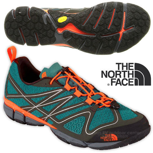 【美國 The North Face】男新款 ULTRA CURRENT 透氣耐磨戶外多功能鞋_CCE4 螢光橘/黑墨綠