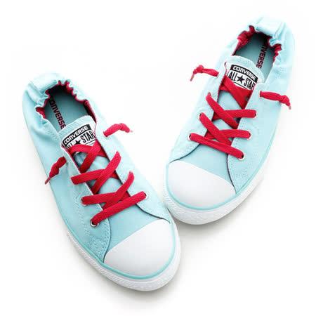 CONVERSE(童)(低統)膠底帆布鞋-綠色-647700C
