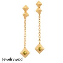 Jewelrywood 純銀波西米亞復古金字塔耳環