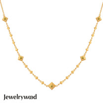 Jewelrywood 純銀波西米亞復古金字塔項鍊