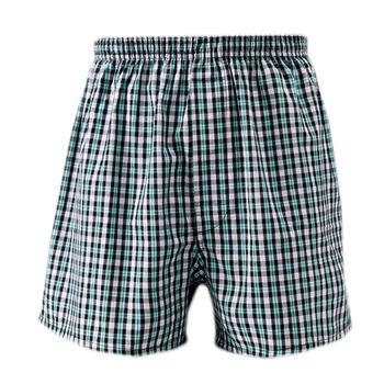 歐風 平織織帶平口褲(M~XL)