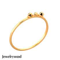 Jewelrywood 純銀波西米亞復古金字塔三錐戒指
