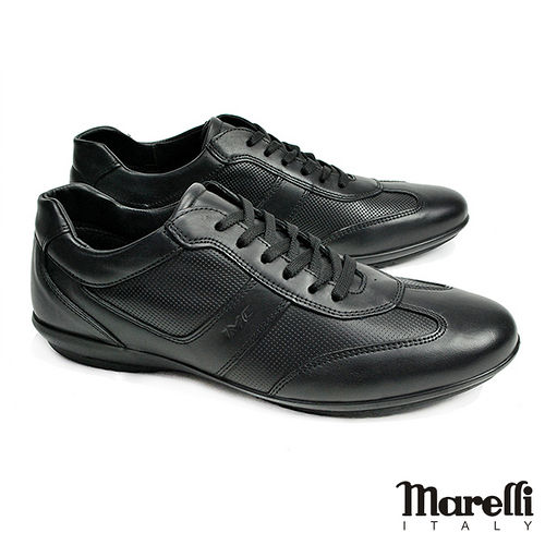 ~marelli~Casual核心氣墊皮革休閒鞋 黑色^(30250~BL^)