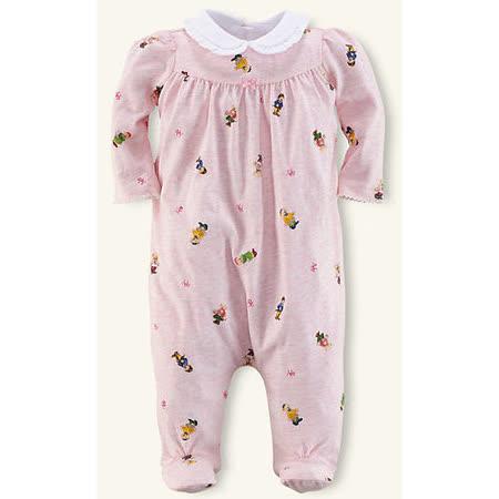 美國Ralph Lauren 童裝 嬰兒 包屁衣 連身衣 粉紅熊熊 3M 6M(RL0004)