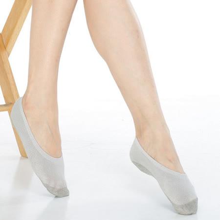【KEROPPA】吸濕/止滑/減壓竹炭隱形襪*6雙(男女適用)C502-灰色