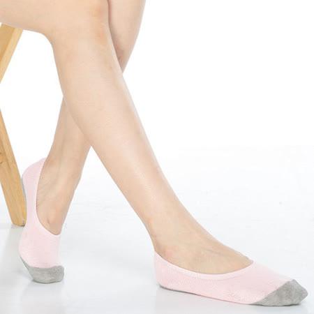 【KEROPPA】吸濕/止滑/減壓竹炭隱形襪*6雙(男女適用)C502-粉紅