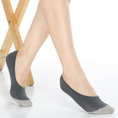 【KEROPPA】吸濕/止滑/減壓竹炭隱形襪*6雙(男女適用)C502-深灰