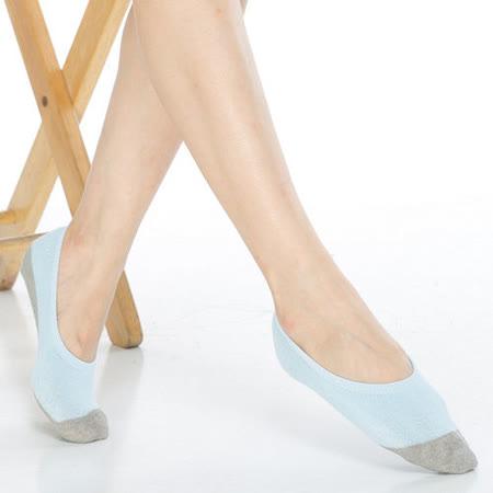 【KEROPPA】吸濕/止滑/減壓竹炭隱形襪*6雙(男女適用)C502-淺藍