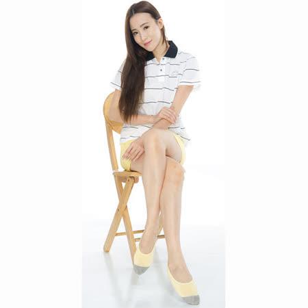 【KEROPPA】吸濕/止滑/減壓竹炭隱形襪*6雙(男女適用)C502-黃色