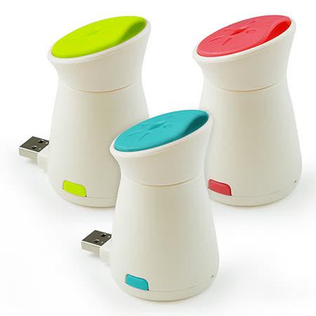 迷你可攜式 USB小企鵝香薰加濕器-天藍/青綠/桃紅