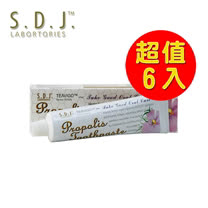 SDJ-智慧蜂膠草本牙膏6入超值組