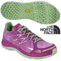 【美國 The North Face】女新款 ULTRA TR II 輕量透氣耐磨越野跑鞋_CKM4 拜占庭紫/天堂綠