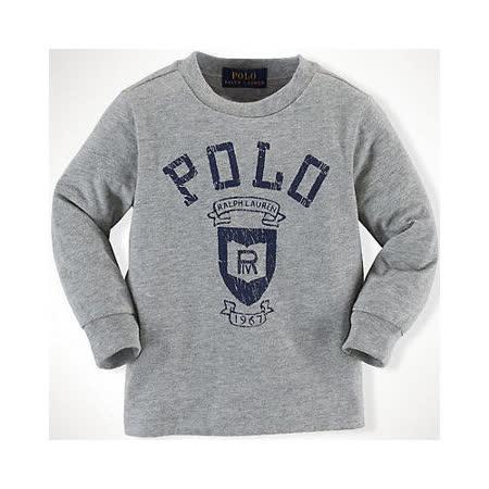 美國Ralph Lauren 童裝 嬰兒 長袖上衣 LOGO 灰色 9M (RL0012)