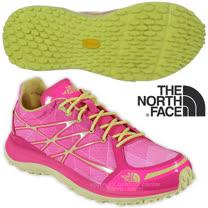 【美國 The North Face】女新款 ULTRA TR II 輕量透氣耐磨越野跑鞋_CKM4 螢光粉/戚風黃