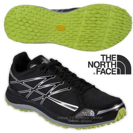 【美國 The North Face】男新款 ULTRA TR II 輕量透氣耐磨越野跑鞋_CKM3 黑/日光黃
