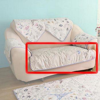 HomeBeauty 極度涼感精梳棉沙發布坐墊-椅面 雙人座-春漫鐵塔