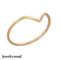 Jewelrywood 純銀AztecV字單環戒指