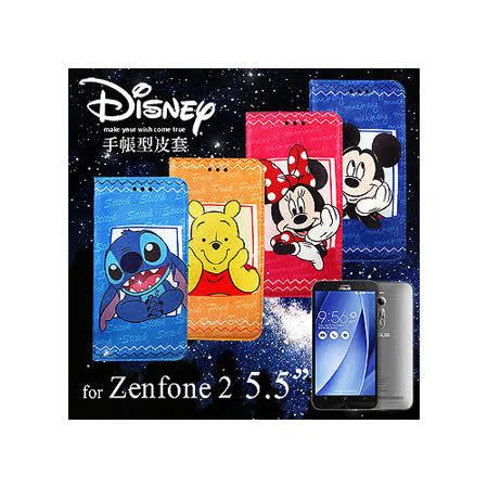 迪士尼 Disney 授權正版 華碩 ASUS ZenFone 2 ZE550ML ZE551ML 5.5吋 手帳式磁力支架筆記本皮套