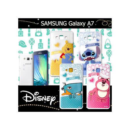 迪士尼授權正版 三星 SAMSUNG Galaxy A7 休閒點點透明軟式保護套 手機殼 (新秀組)