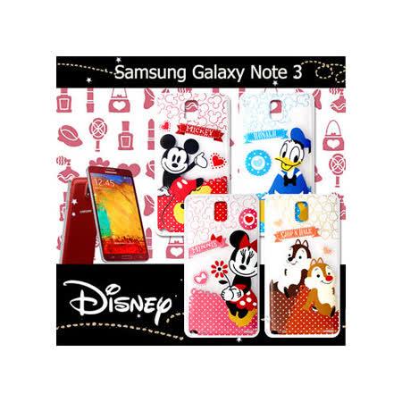 迪士尼授權正版 三星 Samsung Galaxy Note 3 休閒點點透明軟式保護套 手機殼 (經典組)