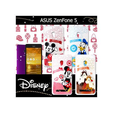 迪士尼授權正版 華碩  ASUS ZenFone 5 A500CG 休閒點點透明軟式保護套 手機殼 (經典組)