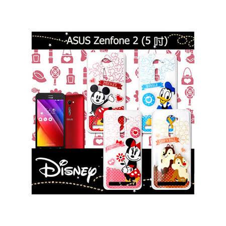 迪士尼授權正版 ASUS ZenFone 2 ZE500CL 5.0吋 休閒點點透明軟式保護套 手機殼 (經典組)