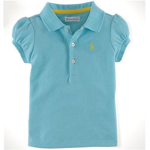 美國 Ralph Lauren  嬰兒 Polo衫 短袖 上衣 Logo 淺藍色 9M 1
