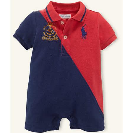 美國 Ralph Lauren 嬰兒 寶寶 連身衣 Polo衫 短袖 紅色  9M (RL0033)