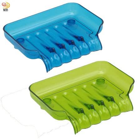 月陽彩色透明導流式吸盤肥皂盒超值2入(1166)
